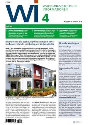 Wohnungspolitische Informationen 04/2016 | Wohnungspolitische Information