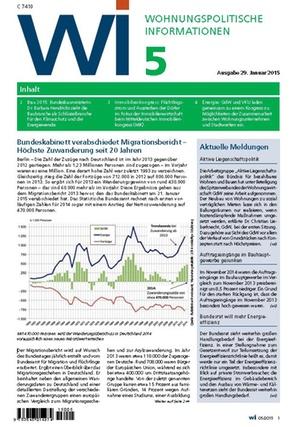 Wohnungspolitische Informationen 05/2015   Wohnungspolitische Information