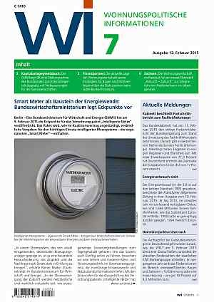 Wohnungspolitische Informationen Ausgabe 07/2015 | Wohnungspolitische Information
