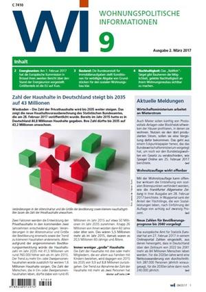 Wohnungspolitische Informationen 9/2017 gdw | Wohnungspolitische Information