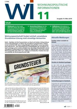 Wohnungspolitische Informationen 11/2019 gdw | Wohnungspolitische Information