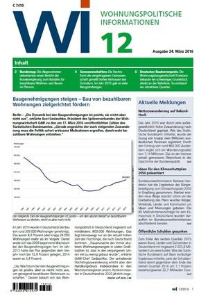 Wohnungspolitische Informationen 12/2016 GdW   Wohnungspolitische Information