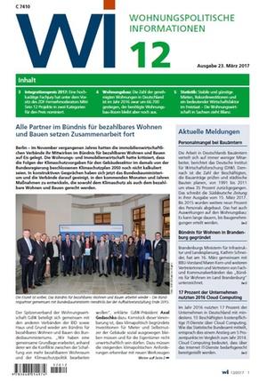 Wohnungspolitische Informationen 12/2017 gdw | Wohnungspolitische Information