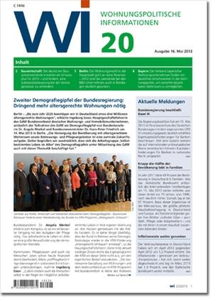 Wohnungspolitische Informationen Ausgabe 20/2013   Wohnungspolitische Information
