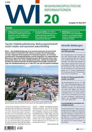 Wohnungspolitische Informationen 20/2017 gdw   Wohnungspolitische Information