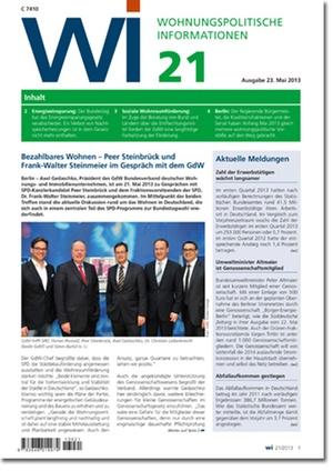 Wohnungspolitische Information Ausgabe 21/2013 | Wohnungspolitische Information