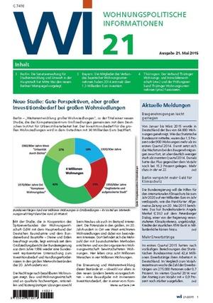 Wohnungspolitische Informationen 21/2015   Wohnungspolitische Information