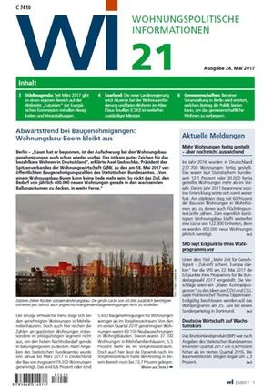 Wohnungspolitische Informationen 21/2017 gdw   Wohnungspolitische Information