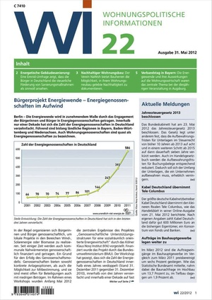 Wohnungspolitische Informationen Ausgabe 22/2012 | Wohnungspolitische Information