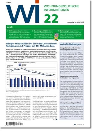 Wohnungspolitische Information Ausgabe 22/2013 | Wohnungspolitische Information