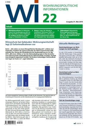 Wohnungspolitische Informationen 22/2019 gdw | Wohnungspolitische Information