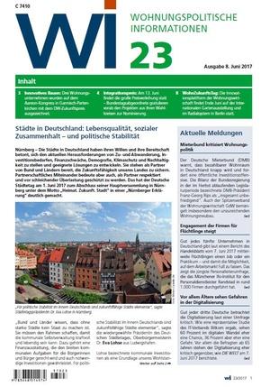 Wohnungspolitische Informationen 23/2017 gdw | Wohnungspolitische Information
