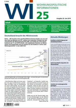 Wohnungspolitische Informationen 25/2019 gdw | Wohnungspolitische Information