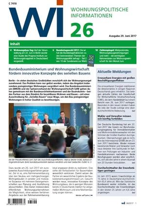 Wohnungspolitische Informationen 26/2017 gdw | Wohnungspolitische Information