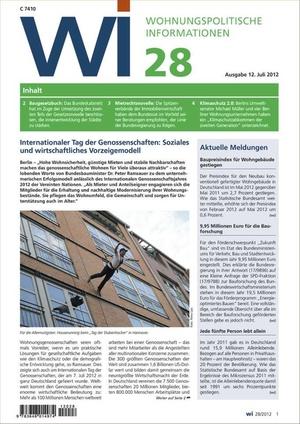 Wohnungspolitische Informationen Ausgabe 28/2012 | Wohnungspolitische Information