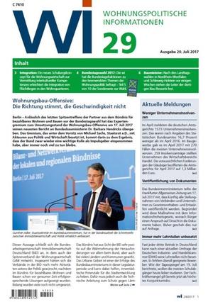 Wohnungspolitische Informationen 29/2017 gdw   Wohnungspolitische Information