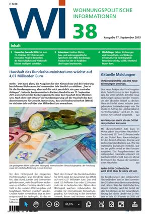 Wohnungspolitische Informationen 38/2015 GdW | Wohnungspolitische Information