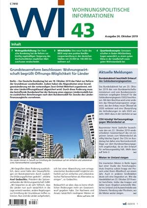 Grundsteuerreform beschlossen | Wohnungspolitische Information