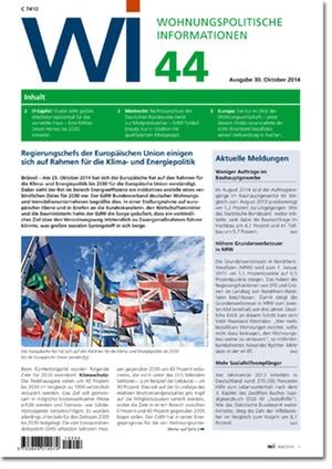 Wohnungswirtschaftliche Informationen 44/2014 | Wohnungspolitische Information