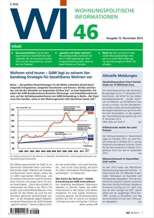 Wohnungspolitische Informationen Ausgabe 46/2012 | Wohnungspolitische Information