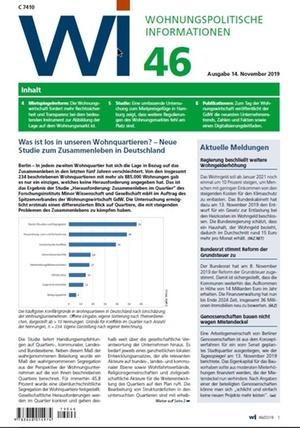 Wohnungspolitische Informationen 46/2019 gdw | Wohnungspolitische Information