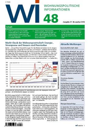 Wohnungspolitische Informationen 48/2014 | Wohnungspolitische Information