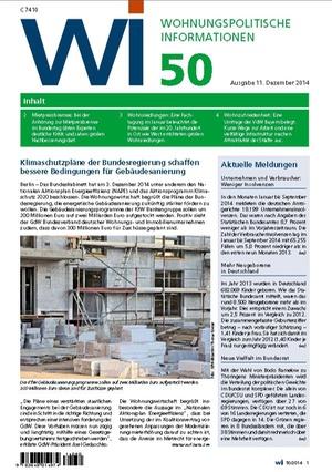 Wohnungspolitische Informationen 50/2014 | Wohnungspolitische Information