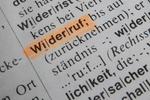 Widerruf Wort aus Wörterbuch