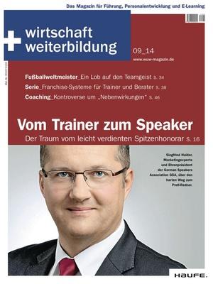 wirtschaft + weiterbildung Ausgabe 09/2014 | wirtschaft & weiterbildung