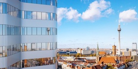 Wohnblock Altbauten Häuserzeile Berlin