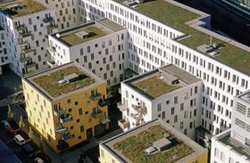 Wohnhäuser von oben