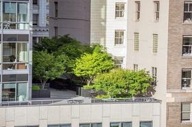 Wohnhaus Wohnungen Bäume auf Terrasse