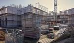 Wohnungen im Bau Baustelle