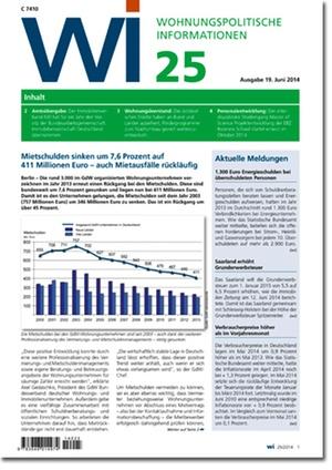 Wohnungspolitische Informationen 25/2014 | Wohnungspolitische Information