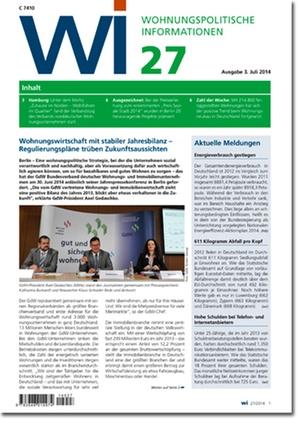 Wohnungspolitische Informationen 27/2014 | Wohnungspolitische Information