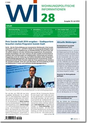 Wohnungspolitische Informationen 28/2014 | Wohnungspolitische Information