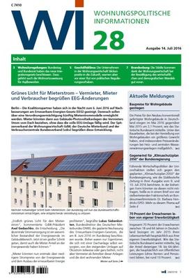 Wohnungspolitische Informationen 28/2016
