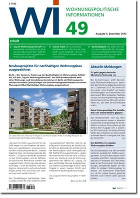 Wohnungspolitische Informationen 49/2013