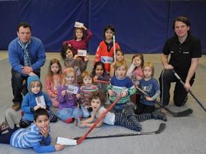 GEWOBAG ECC Preussen: Eishockey-Workshop Kita-Kinder Grundschüler