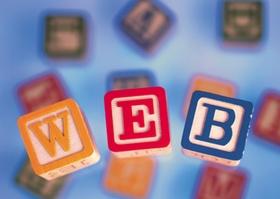 """Wort """"Web"""" aus Bauklötzen"""