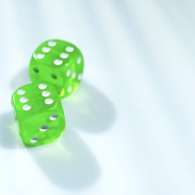 Close-up of two dices