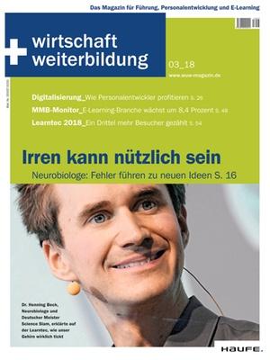wirtschaft + weiterbildung Ausgabe 3/2018 | wirtschaft & weiterbildung