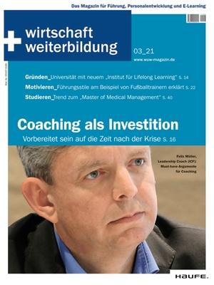 wirtschaft + weiterbildung Ausgabe 3/2021 | wirtschaft & weiterbildung