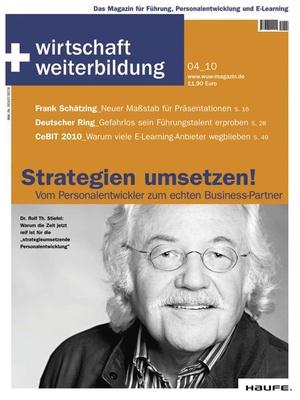 wirtschaft + weiterbildung Ausgabe 4/2010 | wirtschaft & weiterbildung