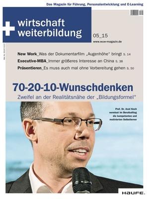 wirtschaft + weiterbildung Ausgabe 05/2015 | wirtschaft & weiterbildung