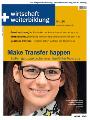 wirtschaft + weiterbildung Ausgabe 4/2020 | wirtschaft & weiterbildung
