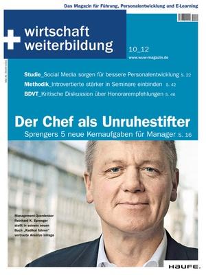 wirtschaft + weiterbildung Ausgabe 10/2012 | wirtschaft & weiterbildung
