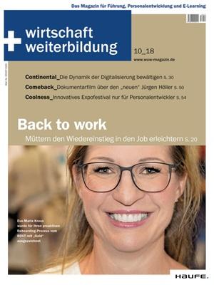 wirtschaft + weiterbildung Ausgabe 10/2018   wirtschaft & weiterbildung