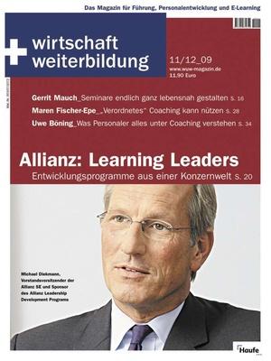 wirtschaft + weiterbildung Ausgabe 11+12/2009 | wirtschaft & weiterbildung