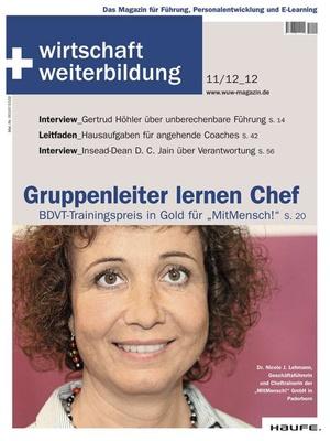 wirtschaft + weiterbildung Ausgabe 11+12/2012 | wirtschaft & weiterbildung